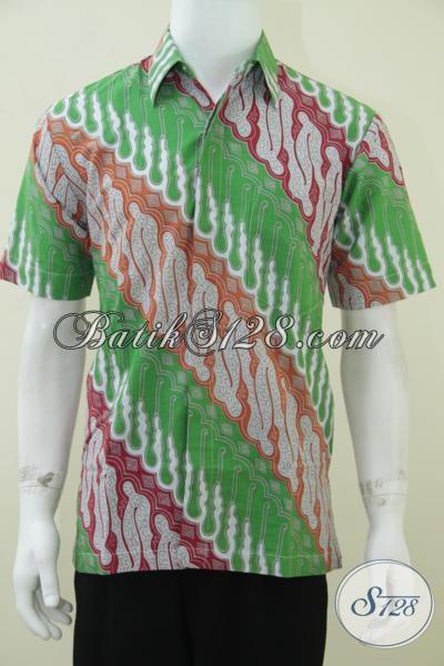 Jual Batik Pria Harga Murah Bahan Halus Berkualitas, Motif Keren [LD1582P-M]