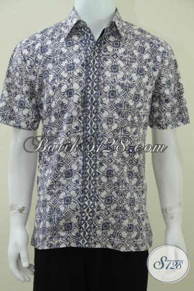 Busana Batik Anak Muda Motif Modern, Kemeja Batik Cap Warna Alam Ramah Lingkungan Modis Gaul Trendy, Size M