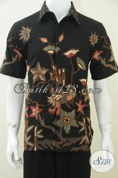 Kemeja Batik Tulis Soga Warna Alam, Keren Ukuran M [LD1589TS-M]