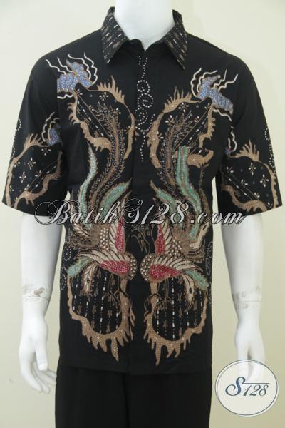 Baju Batik Online Solo Harga Murah, Batik Tulis Pria Modern Motif Kontemporer Abstrak [LD1618T-XL]