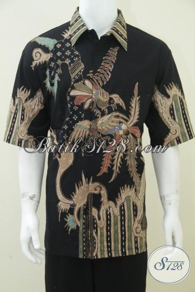 Baju Batik Pria Ukuran Jumbo Besar Size Xxl Warna Hitam