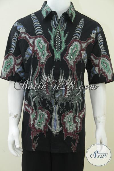 Batik Burung Phoenix, Kemeja Batik Tulis Besar Untuk Laki-Laki Gemuk [LD1622T-XXL]