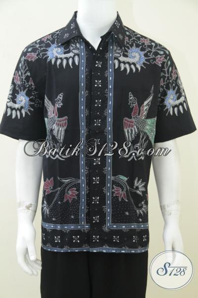 Baju Batik Pria Unik Warna Hitam Pusat Batik Tulis Pria