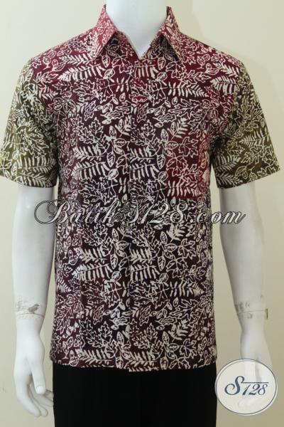 Batik Pria Dewasa Lengan Pendek, Hem Batik Cap [LD1682CS-M]