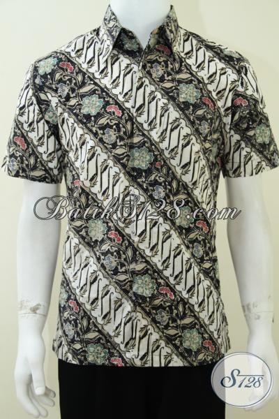 Distro Batik Solo Online Terlengkap, Jual Baju Batik Pria Lengan Pendek Motif Parang, Hem Batik Resmi Premium , Size L