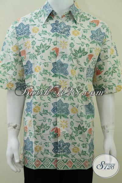 Baju Batik Warna Cerah Kalem Soft Big Size Jumbo Ukuran