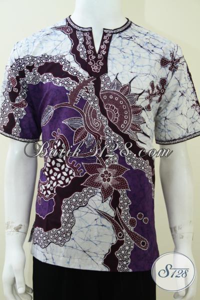 Baju Model Koko Batik Terbaru Pria Muslim Lengan Pendek Batik