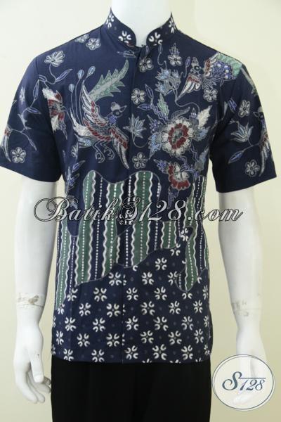 Hem Batik Kerah Shanghai Laki-Laki Modern [LD1790TK-M]