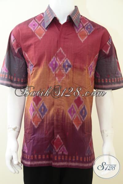Baju Tenun Motif Modern Untuk Pria Ukuran Xl Model Baju