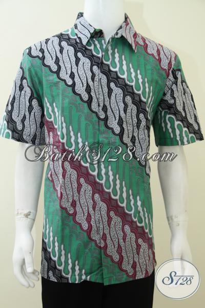 Pakaian Batik Pria Murah Lengan Pendek Bahan Dan Kualitas Bagus [LD1880P-XL]