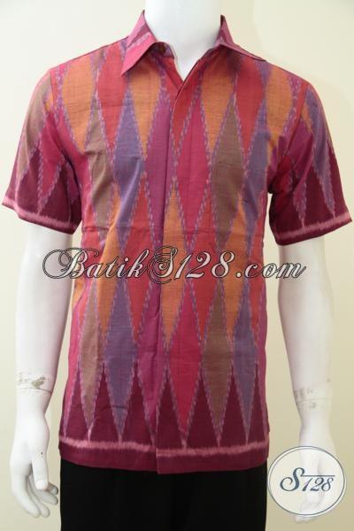 Baju Tenun Modern Terbaru Terkini Motif Rang Rang Lengan