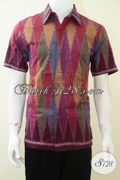 Baju Tenun Ikat Modern Untuk Pria Muda Berprestasi [LD1888NF-M]