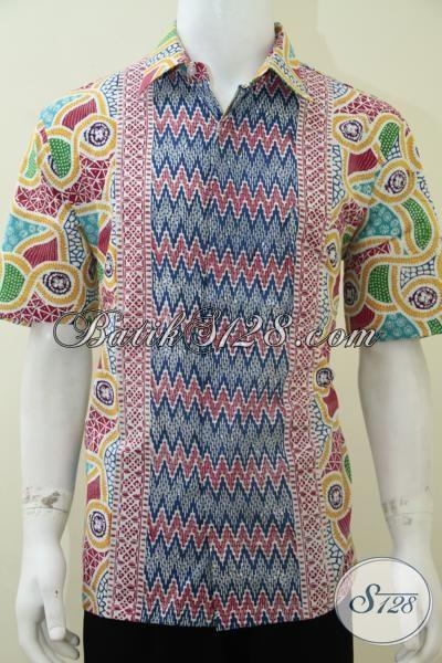 Baju Batik Warna Cerah Cocok Untuk Remaja Pria Dan Ayah