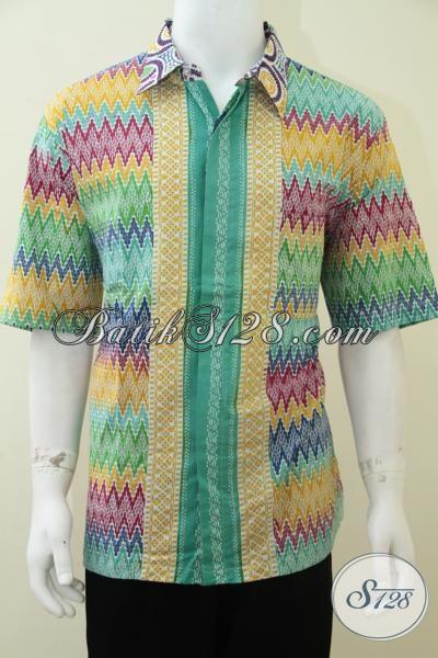 Kemeja Batik Keren Warna Cerah Motif Rang Rang Bagus Tampil Happy