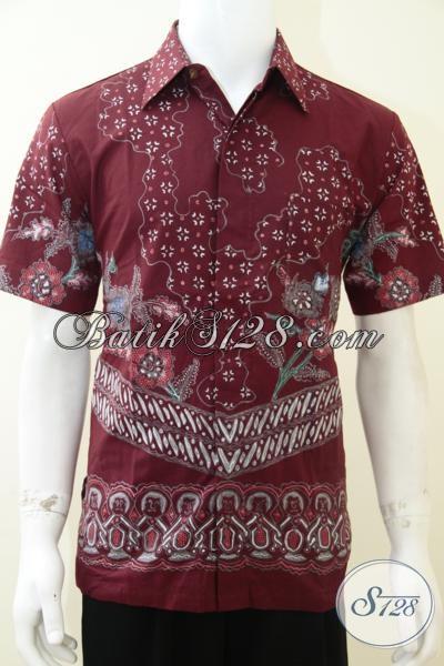 Baju Batik Tulis Online Untuk Pria Warna Merah Bagus