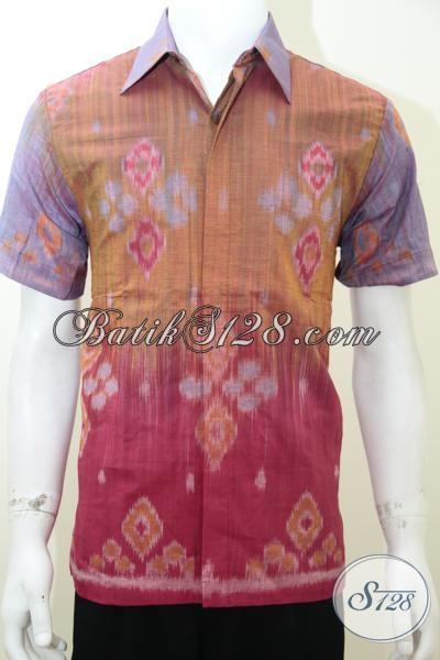 Baju Tenun Ikat Terbaru Lengan Pendek Dijual Online