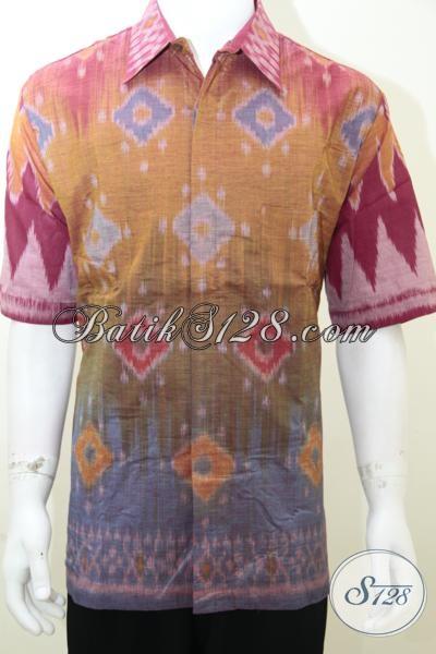 Baju Tenun Pria Ukuran XXL Besar Untuk Orang Gemuk [LD1990NF-XXL]