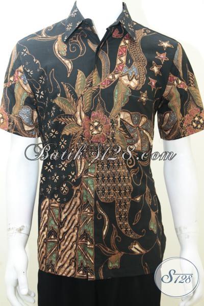Batik Pria Modern Ukuran M, Batik Tulis Terbaru, Asli Solo [LD1995TS-M]