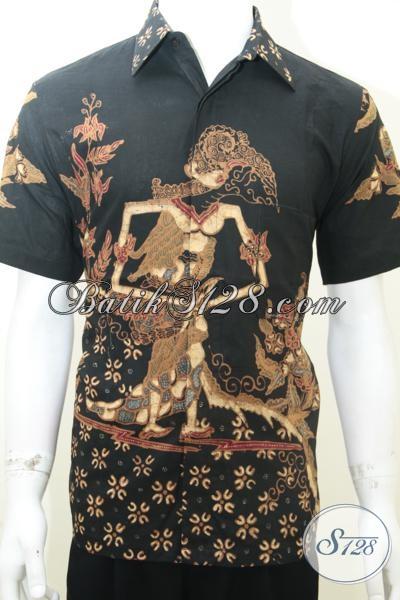 Kemeja Batik Tulis Masa Kini Motif Wayang Dewi Shinta, Busana Batik Solo Premium Modis Dan Trendy Untuk Acara Resmi, Size M