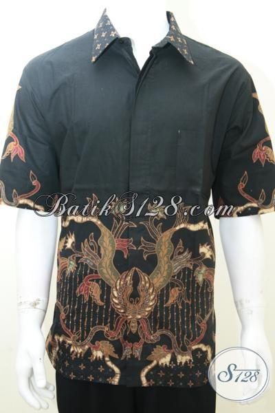 Baju Batik Tulis Cowok Keren Lengan Pendek Halus