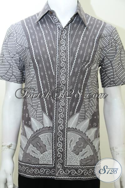 Baju Batik Unik Pria Gaul Motif Sinaran Matahari Ld2015t