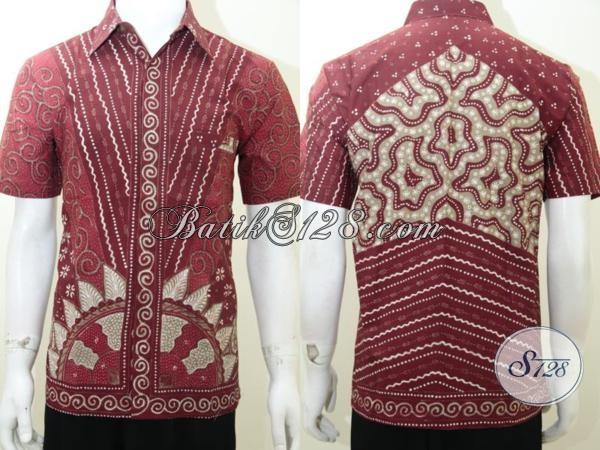 Baju Kemeja Batik Cowok Gaul Keren Lengan Pendek Warna