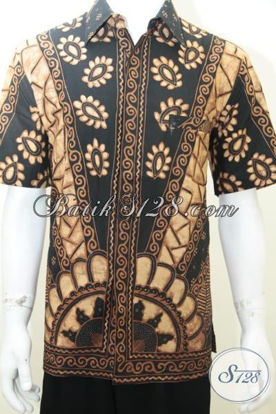 Kemeja Batik Tulis Solo Istimewa, Hem Batik Asli Buatan Pengerajin Kampung Klasik Modern Elegan, Size L