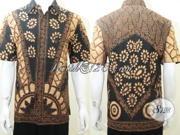 Baju Hem Batik Pria Dewasa Elegan, Batik Tulis Eksklusif [LD2019TS-L]