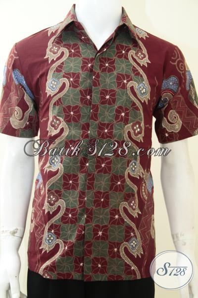 Baju Batik Merah Pria Batik Tulis Murah Kualitas Bagus