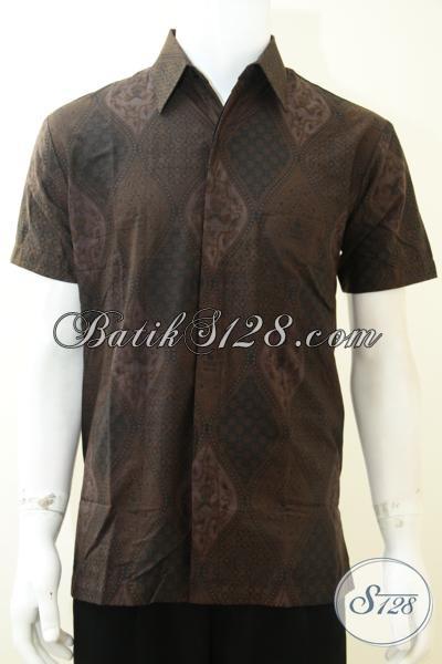 Baju Batik Pria Unik Lengan Pendek Motif Klasik Bagus