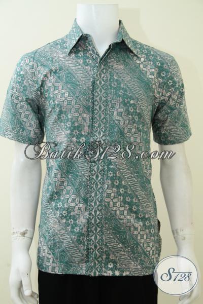 Jual Baju Kemeja Batik Pria Online Solo Warna Alam Hijau [LD2060CA-M]