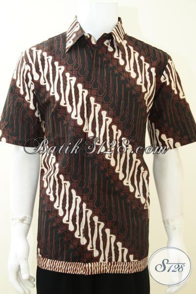 Jual Produk Hem Batik Solo Berbahan Katun Halus Adem Nyaman Dipakai, Kemeja Batik Trendy Motif Klasik Laki-Laki Tampil Elegan, Size L
