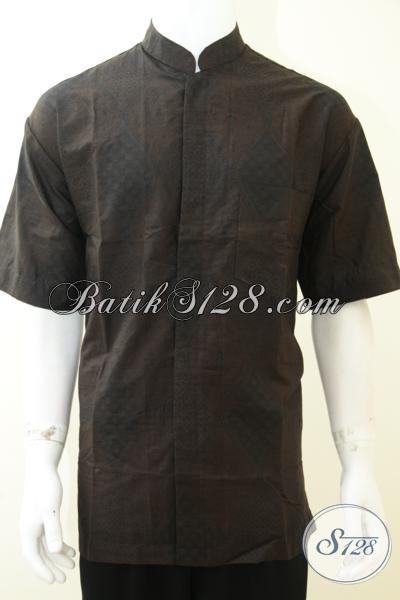 Tren Terbaru 2014 Busana Batik Koko Modis Bergaya Modern, Baju Batik Keren Untuk Lebaran Tahun Ini, Size XL