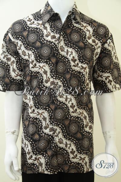 Kemeja Batik Keren Modis Berkwalitas  Murah, Baju Batik Solo Lengan Pendek Fashionable Hanya Rp 85.000,- , Size XL