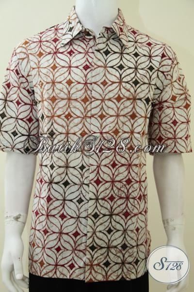 Batik Motif Kawung Untuk Laki-Laki Penyuka Batik Klasik, Kini Dengan Warna Modern [LD2084CT-XL]