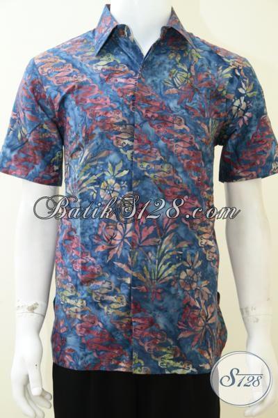 Busana Batik Trendy Remaja 2014, Kemeja Batik Gaul Motif Parang Sentuhan Modern Cocok Untuk Gaul Dan Hangout, Size M – L – XL
