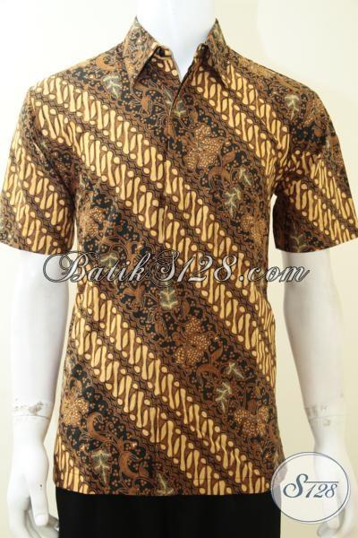 Busana Batik Klasik Pria Muda Dan Dewasa, Pakaian Batik Resmi Trendy Dan Elegan, Size M
