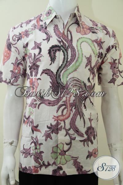 Baju Kemeja Batik Unik Motif Burung Cendrawasih, Untuk Santai Bisa [LD2104BT-M]
