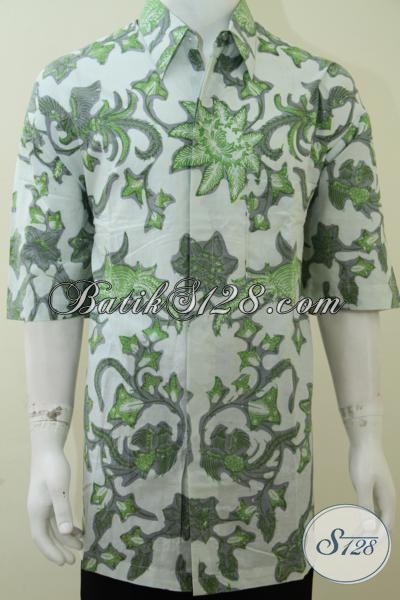 Baju Hem Batik XXXL 4L Motif Abstrak Keren Maskulin Maco [LD2116BT-XXXL]
