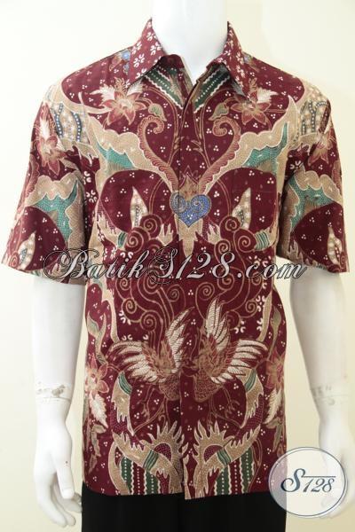 Busana Batik Istimewa Pria Muda Dan Dewasa, Pakaian Batik Tulis Berbahan Halus Adem Motif Keren Resmi Bisa Santai Bisa, Size XL
