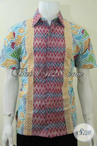 Baju Batik Keren Terbaru Khusus Pria Tampan Kemeja Batik Lengan