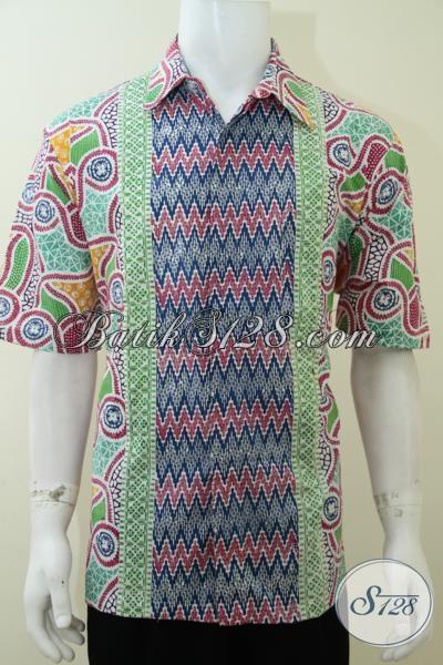 Dijual Batik Baju Pria Warna Cerah Ukuran XL Untuk Santai Dan Hang Out [LD2152C-XL]