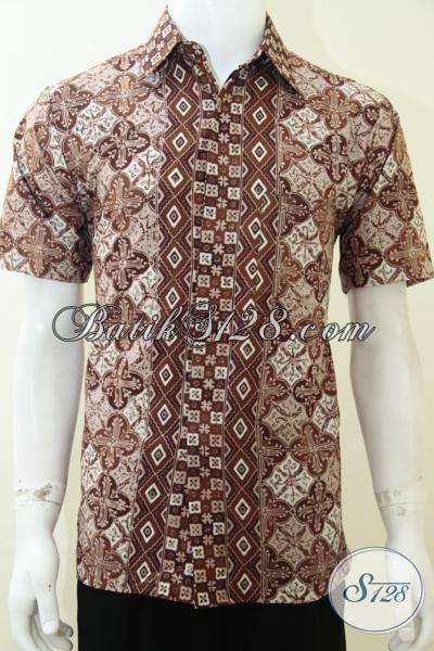 Batik Pria Elegan Warna Coklat Kalem Low Profile Man