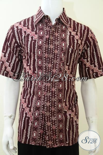 Baju Kemeja Hem Batik Pria Maskulin Keren Elegan