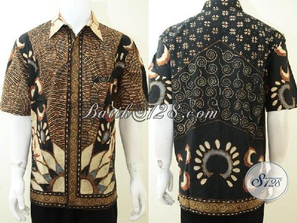 Baju Kemeja Pria Batik Tulis Berkelas, Eksklusif, Mewah [LD2183TSF-XL]