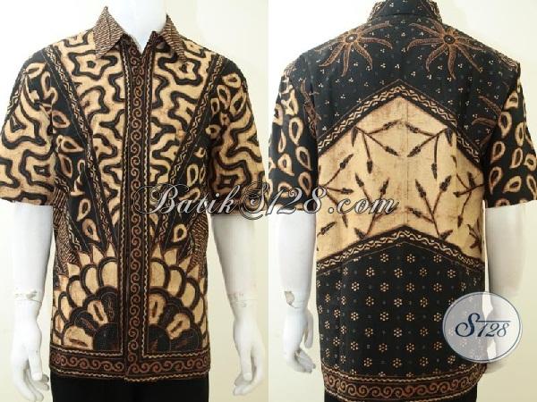 Baju Kemeja Pria Gemuk Ukuran XXL, Batik Laki-Laki Tinggi Besar [LD2184TSF-XXL]