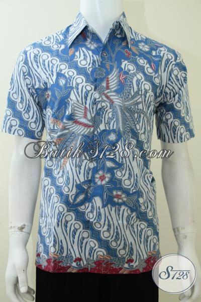 Kemeja Batik Solo Murah Meriah Namun Tetap Berkwalitas, Baju Batik Lengan Pendek Motif Gaul Trendy Dan Fashionable, Size XL