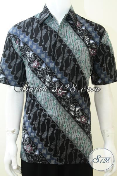 Busana Batik Solo Bahan Katun Halus Dan Adem, Kemeja Batik Resmi Nuansa Modern Untuk Pria Tampil Lebih Gagah Dan Tampan, Size L