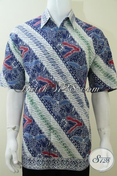 Pakaian Kemeja Batik Cowok Masa Kini, Baju Batik Resmi Harga Terjangkau Bisa Untuk Kondangan Kerja Dan Hangout, Size XL