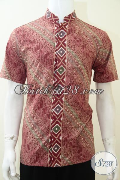 Jual Aneka Busana Batik Trendy Model Koko/Kerah Shanghai, Batik Gaul Motif Keren Untuk Anak Muda Jaman Sekarang, Size M